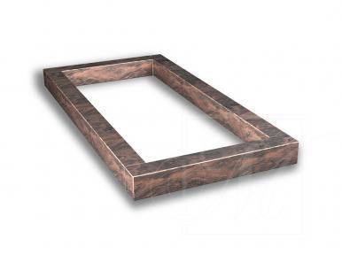 Надгробная плита из красно-коричневого гранита
