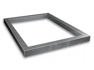 Двойная надгробная плита из серого гранита
