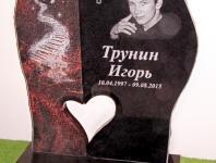 Granīta kapu piemineklis ar portretu 01